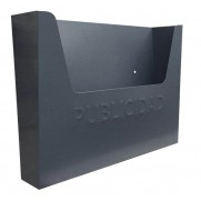 BUZON PUBLICIDAD GRIS CZ 355X255X85