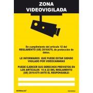 SEÑAL ZONA VIDEOVIGILADA NORMALUZ