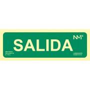 SEÑAL SALIDA PVC CLASE B NORMALUZ 105X300MM