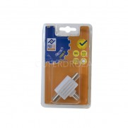 CONECTOR TV TRIPLE 2HEM 1 MCH PROFER H 9.5 MM