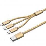 CABLE CONEXION USB 3 EN 1 OSCA CONNECT 1.2 M