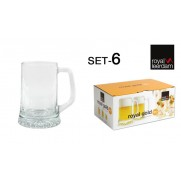 JARRA CERVEZA ROYAL GOLD SET-6  28 CL