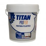PINTURA PLASTICA INTERIOR MATE TITAN PROFER 5 KG