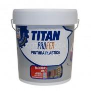 PINTURA PLASTICA FACHADAS MATE TITAN PROFER 20 KG